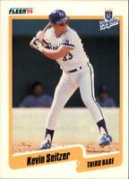 1990 Kevin Seitzer Fleer Baseball Card #117