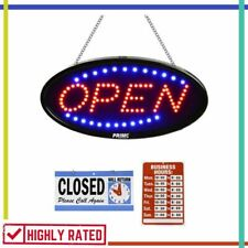Led Open Sign for Business Shop Light Neon Flashing Stead By Prime Home Direct
