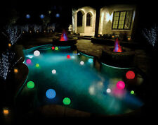 12cm Floating Mood Lights LED Ball Orb x 2 for Pool Spa Pond + Remote