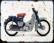 Honda C100 Super Cub 58 02 A4 metal sign moto Vintage Aged