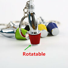 Creative Car Part Model Filter Keychain Turbo Key Ring Keyring Keyfob Holder Red