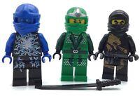 LEGO LOT OF 3 NINJAGO MINIFIGURES LLOYD DRAGON SUIT COLE & ELEMENTAL JAY FIGS