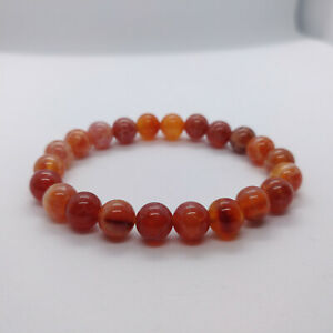 Natural Fire Agate Top Grade Stretch Bracelet UK