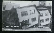 RPPC B/W March 25, 1913 Cypress broad Columbus Ohio Flood Postcard VTG