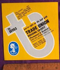 VINTAGE 1960S NORTHS DEVILS BRISBANE RUGBY LEAGUE NRL TEAM PROMOTIONAL STICKER!