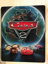 Disney Pixar Cars 2 Steelbook Blu-ray DVD Tin Case