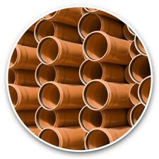 More details for 2 x vinyl stickers 20cm  - drainage pipes civil engineering  #44902