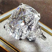 Luxury 5ct Oval Cut White Sapphire Wedding Ring 925 Silver Engagement Jewelry