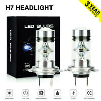 2x H7 LED Headlight Bulbs Conversion Kit Super High/Low Beam 4000LM 6000K White