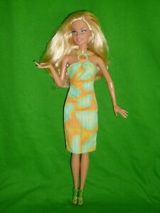 Barbie Doll Fashion ~ Print Dress with Ring Detail & Sandals