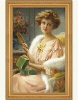 Victorian Trading Co A Young Lady with a Mirror Print Emile Vernon Free Ship NIB