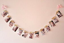 Baby Birthday Photo Banner Monthly Photo Bunting Infant Shower Decor Hangings