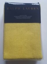 Ralph Lauren Flying Point Slckr Yellow 100% Silk Matka Euro Pillow Sham India