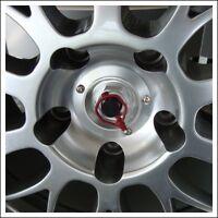 4x Porsche Wheel Cap Lock GT CUP Race Design Anodized Aluminum 911 Carrera