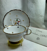 Vintage  OES Royal Stafford Tea Cup & Saucer Bone China. Made in  England.
