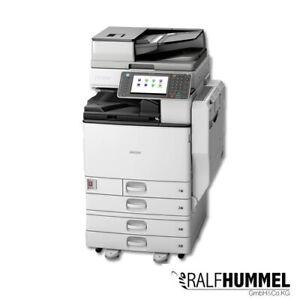 Ricoh Aficio MP C3002 Kopierer Drucker Scanner Fax Duplex LAN 4.PF USB A3