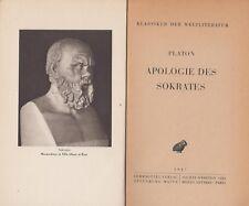 Platone: apologie del Socrates (greco) 1947