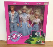Ken Barbie Skipper COOL CITY BLUES Denim / Jean Fun ~ Set of 3 Dolls