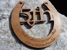 5th Wedding Anniversary personalised Horseshoe