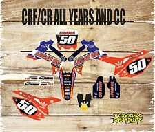 HONDA CR CRF 85 150 125 250 450 FULL STICKER KIT-FULL GRAPHICS KIT-DECALS-MX RED