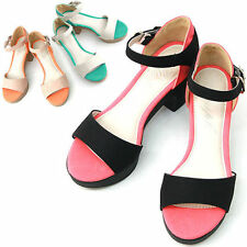 Synthetic Strappy Multi-Colored Heels for Women