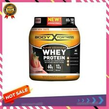 Body Fortress Super Advanced Whey Protein, Strawberry, 2 Lbs 02/20+