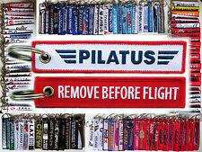 Keyring PILATUS AIRCRAFT Remove Before Flight tag keychain