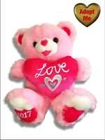 "Dan Dee 19"" Big Valentine's Day Sweet Heart Love Stuffed Animal Pink Teddy Bear"