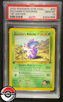 2000 Pokemon Gym Challenge Giovanni's Nidoran 1st Edition #76 PSA 10 Gem-Mint