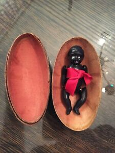 Vintage Antique Watermelon Celluloid African baby doll  20s 30s