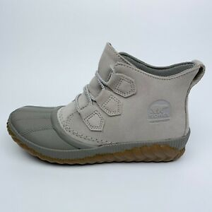 Sorel Out N About Plus Boots Soft Taupe Waterproof  Duck Boot NL3587-096 Size 6