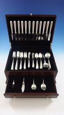 Silver Flutes by Towle Sterling Silver Flatware Set For 12 Service 76 Pieces
