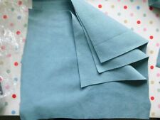 Faux Suede Fabric blue/grey and Burgundy offcuts crafts sewing heavyweight 296g