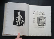 CARTOONS IN RHYME & LINE by W Lawson: Humour / Art / Poems & Poetry / Rare 1905