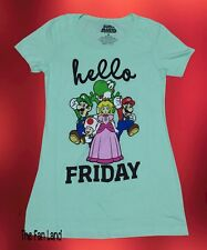 New Nintendo Super Mario Hello Friday Womans Junior Graphic T-Shirt