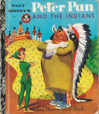 VINTAGE LGB LITTLE GOLDEN BOOK SYDNEY No.D88 Walt Disney PETER PAN & THE INDIANS