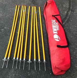 Kwik Goal Soccer Coaching Training Sticks - Gates - Lot Of 10 - Carrying Bag