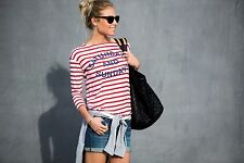 Sundry Anthropologie Saturdays and Sundays Striped Tee Womens 3 L Multi-Color