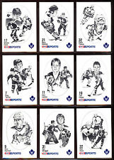 1986-87 KRAFT DRAWINGS TORONTO MAPLE LEAFS 10 CARD TEAM SET WENDEL CLARK ROOKIE