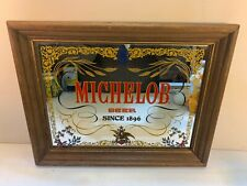 9 x 11 Wood Framed Michelob Beer Since 1896 Mirror