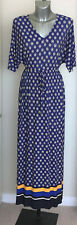 Ladies M&S Twiggy Size 6 Maxi Dress RRP £55 Bnwt China Blue