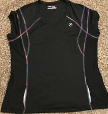 Fila Sport Live In Motion Womens Xl Black Polyester Sleeveless Shirt A33
