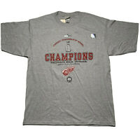 2002 Lee Sport Men's Size XL Detroit Red Wings Stanley Cup Chanpions T Shirt NEW