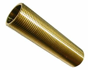 "3/4"" BSP Long Running Nipple in Brass 4"" Long Ideal for Bespoke Tank Connectors"