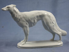 windhund barsoi Figur zehscherzer figur porzellan porzellanfigur