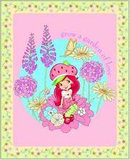 Strawberry Shortcake Garden Panel Cotton Print Quilting Fabric - 90cm x 110cm