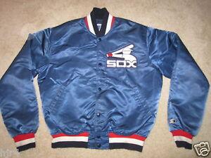 Chicago White Sox MLB Baseball Starter Satin Jacket Medium M Mens