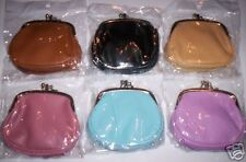 2 Faux LEATHER COIN PURSES/Wallets w THREE Compartments