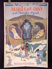 """MARIA D'ORO UND BELLO BLUE"" 1sh MOVIE POSTER ARGENTINA"