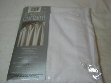 NEW InterDesign Drizzle White Fabric Shower Curtain 72x72 NIP